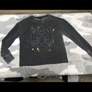 Rampage Juniors Foil Graphic Sweatshirt